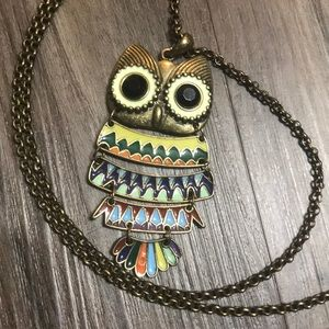Jewelry - Boutique owl necklace cute!